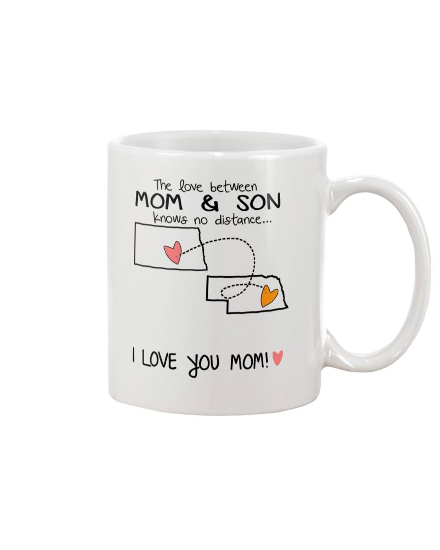 34 27 ND NE North Dakota Nebraska Mom and Son D1 Mug