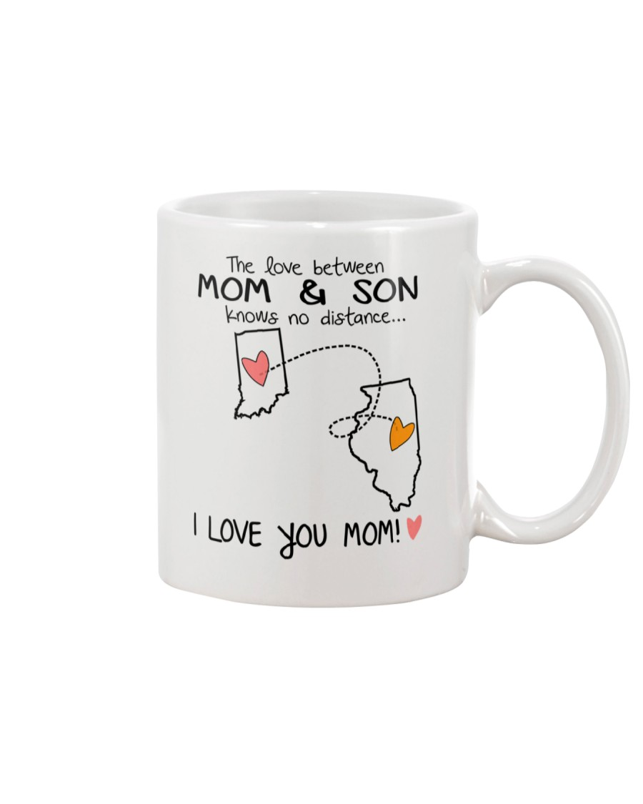 14 13 IN IL Indiana Illinois Mom and Son D1 Mug