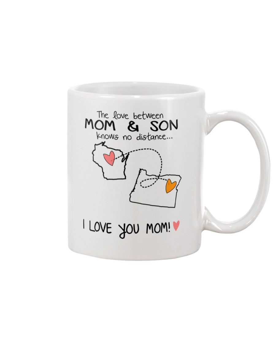 49 37 WI OR Wisconsin Oregon Mom and Son D1 Mug