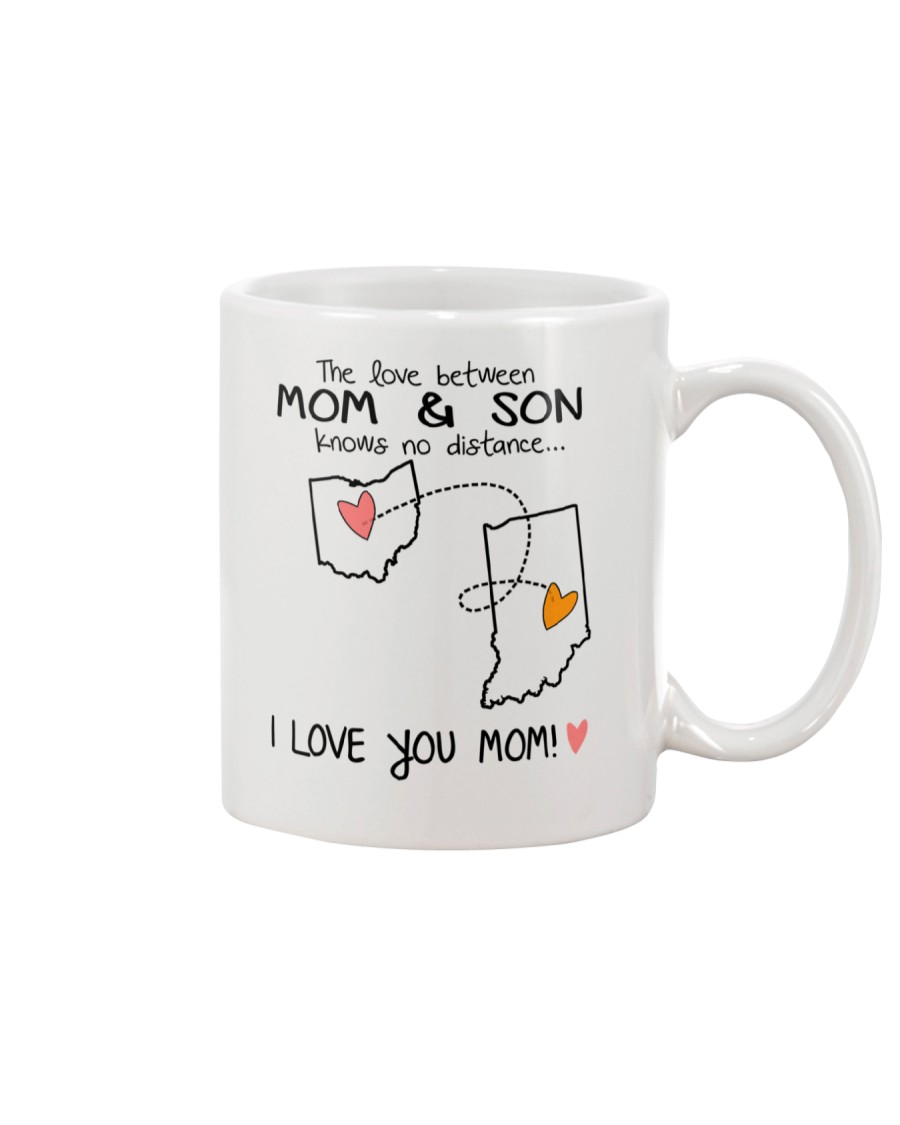 35 14 OH IN Ohio Indiana Mom and Son D1 Mug