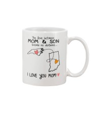 33 14 NC IN North Carolina Indiana Mom and Son D1 Mug front