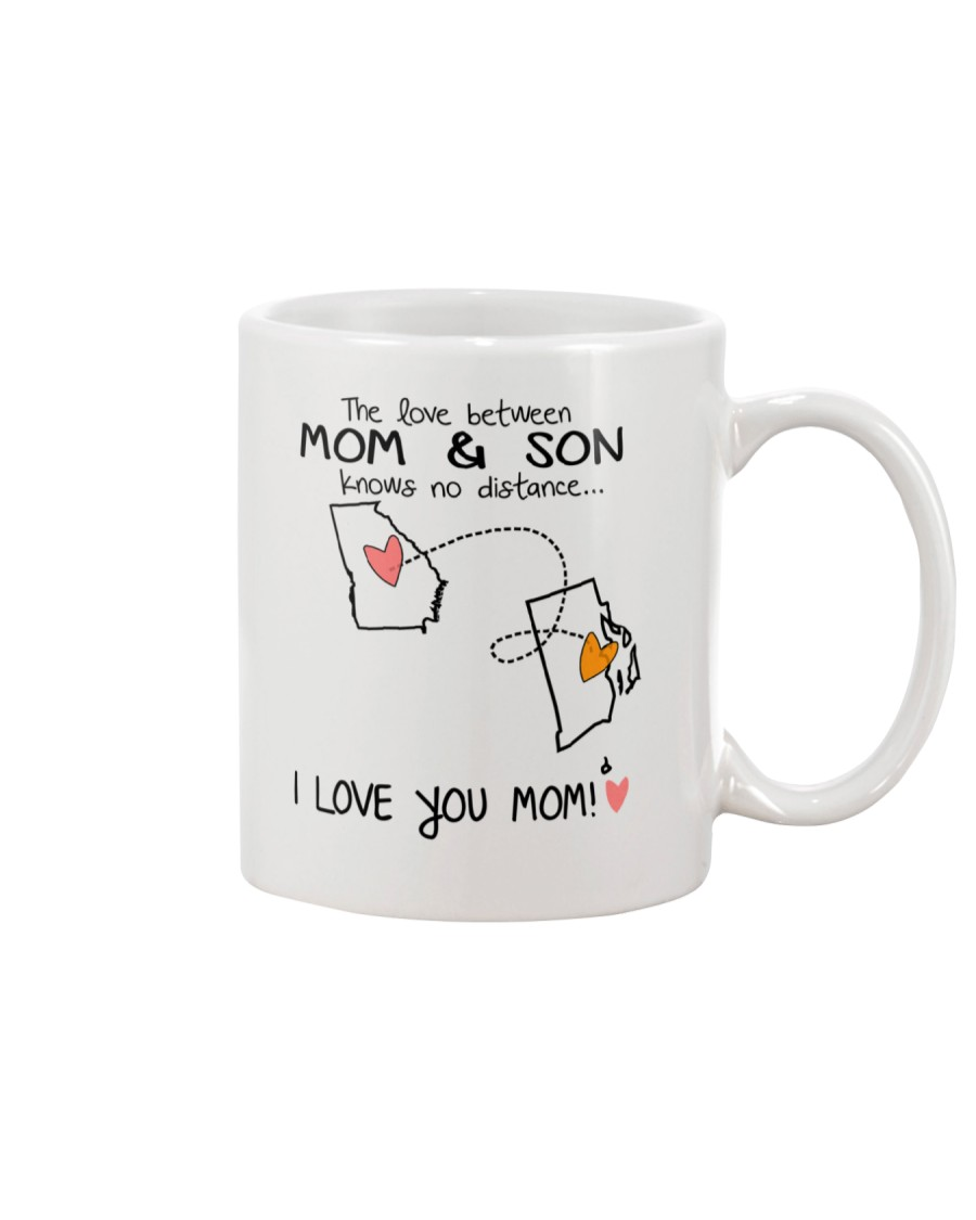 10 39 GA RI Georgia Rhode Island Mom and Son D1 Mug