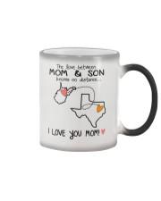 48 43 WV TX West Virginia Texas PMS6 Mom Son Color Changing Mug thumbnail