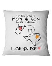 48 43 WV TX West Virginia Texas PMS6 Mom Son Square Pillowcase thumbnail