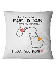 48 10 WV GA West Virginia Georgia PMS6 Mom Son Square Pillowcase thumbnail