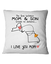 32 25 NY MO New York Missouri PMS6 Mom Son Square Pillowcase thumbnail