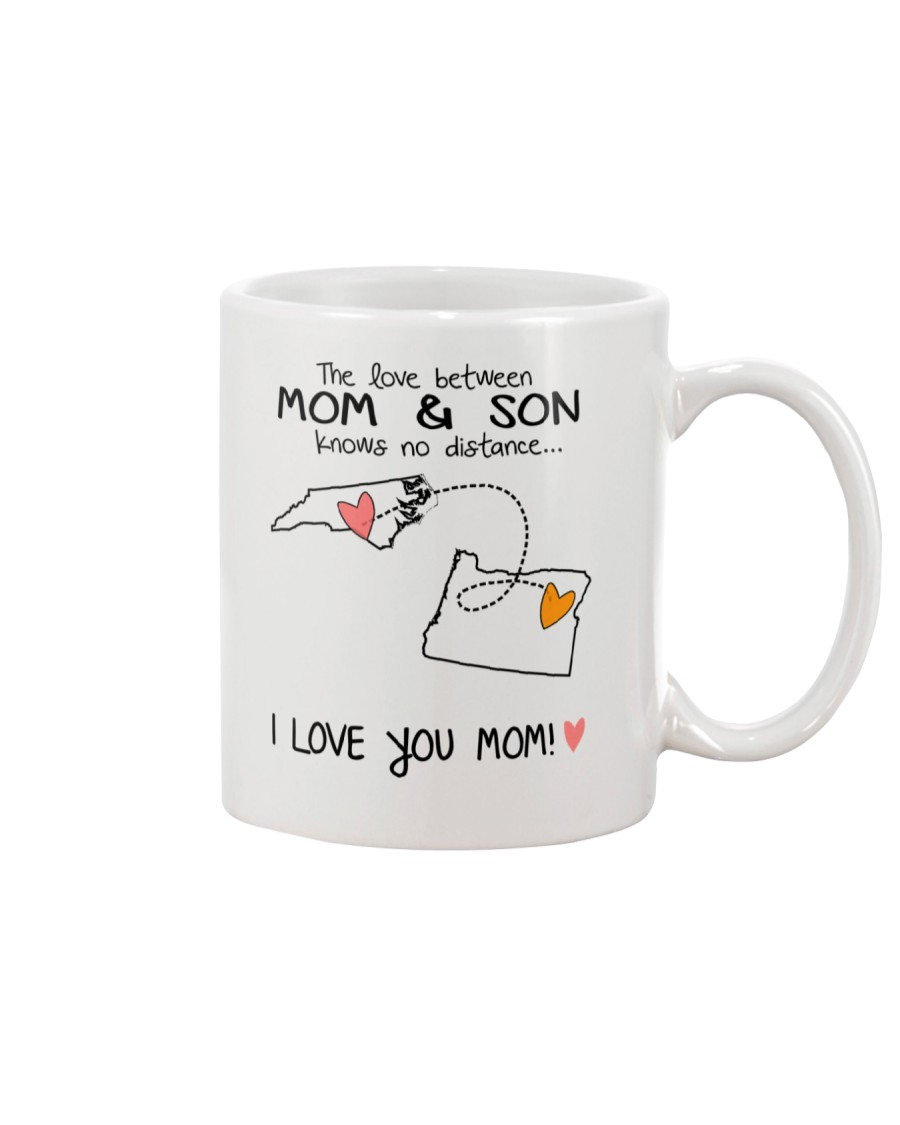 33 37 NC OR North Carolina Oregon Mom and Son D1 Mug
