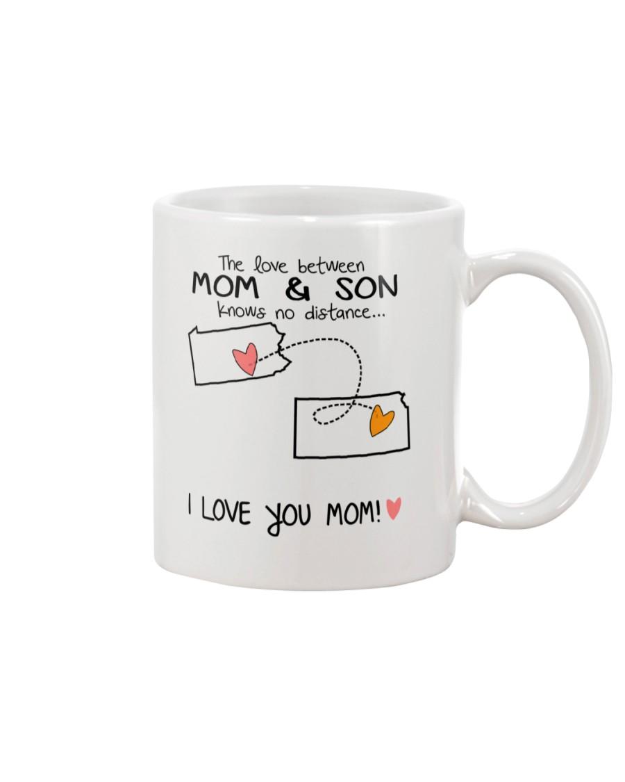 38 16 PA KS Pennsylvania Kansas Mom and Son D1 Mug