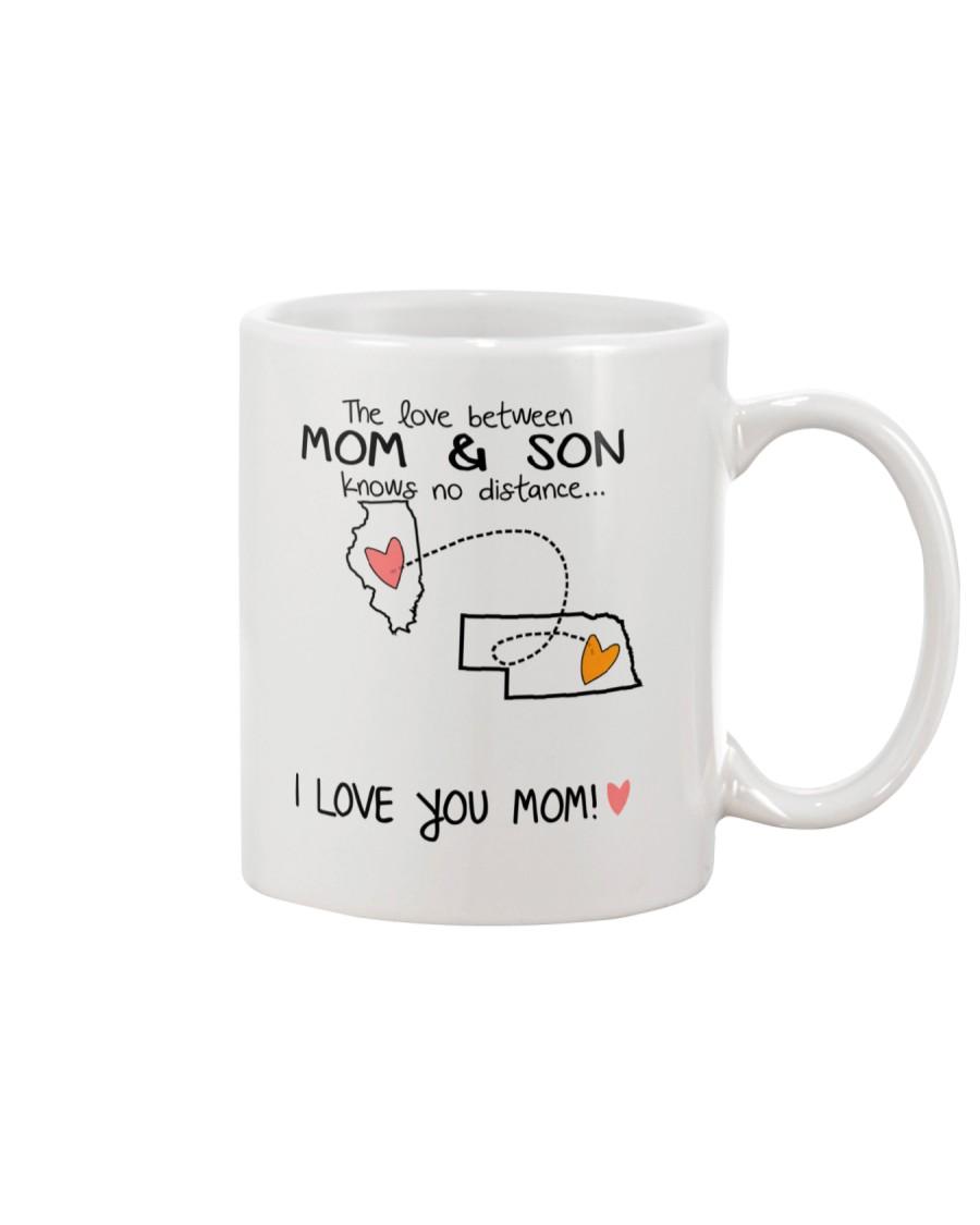 13 27 IL NE Illinois Nebraska Mom and Son D1 Mug
