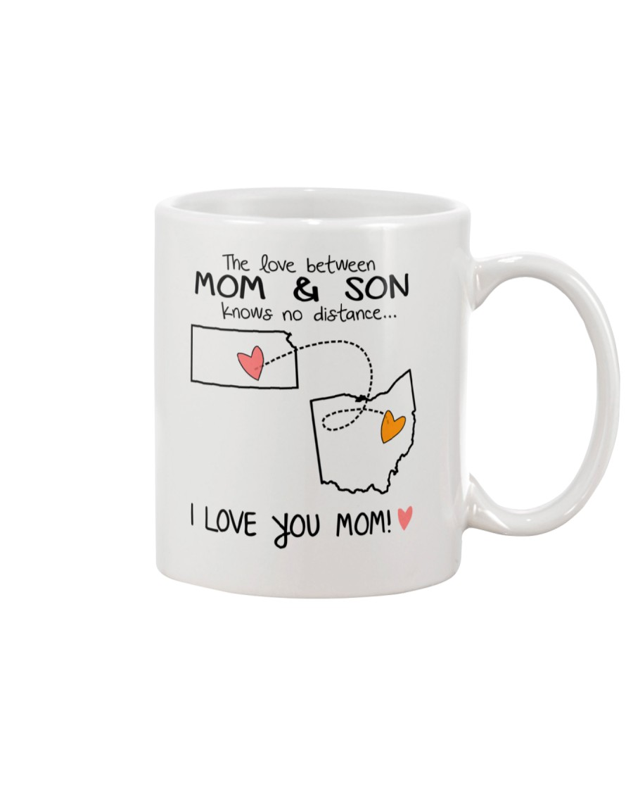 16 35 KS OH Kansas Ohio Mom and Son D1 Mug