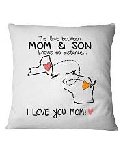 32 49 NY WI New York Wisconsin PMS6 Mom Son Square Pillowcase thumbnail