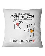 23 45 MN VT Minnesota Vermont PMS6 Mom Son Square Pillowcase tile