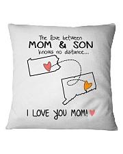 38 07 PA CT Pennsylvania Connecticut PMS6 Mom Son Square Pillowcase tile