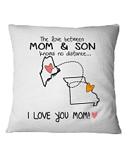 19 25 ME MO Maine Missouri PMS6 Mom Son Square Pillowcase thumbnail