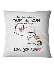 03 18 AZ LA Arizona Louisiana PMS6 Mom Son Square Pillowcase tile