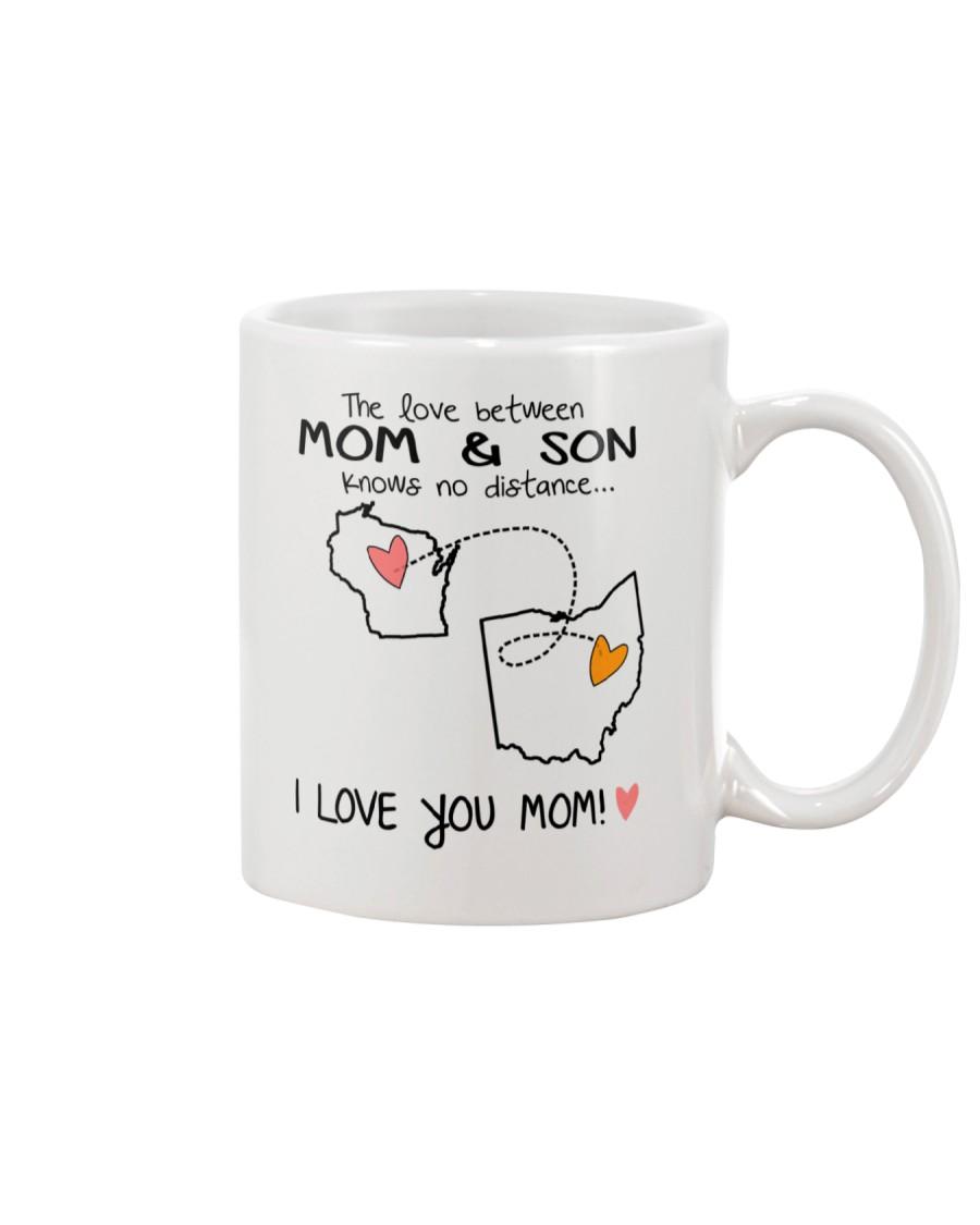 49 35 WI OH Wisconsin Ohio B1 Mother Son Mug Mug