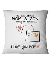 13 50 IL WY Illinois Wyoming PMS6 Mom Son Square Pillowcase tile