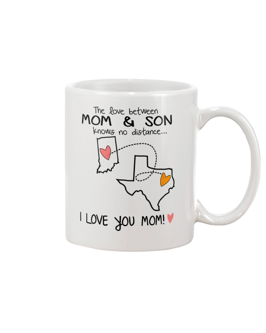 14 43 IN TX Indiana Texas Mom and Son D1 Mug