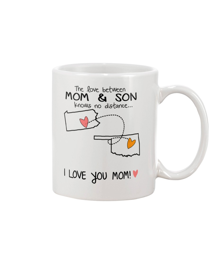38 36 PA OK Pennsylvania Oklahoma Mom and Son D1 Mug