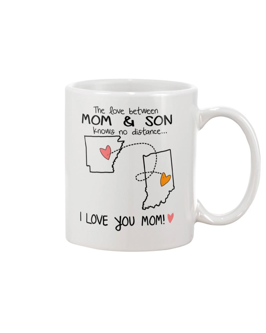 04 14 AR IN Arkansas Indiana Mom and Son D1 Mug