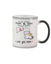 07 18 CT LA Connecticut Louisiana Mom and Son D1 Color Changing Mug tile