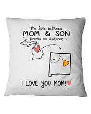 22 31 MI NM Michigan New Mexico PMS6 Mom Son Square Pillowcase thumbnail