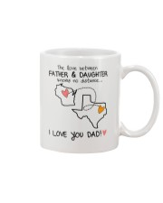 49 43 WI TX Wisconsin Texas Father Daughter D1 Mug front