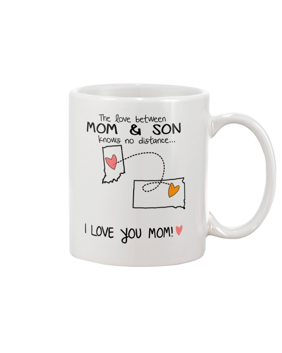 14 41 IN SD Indiana South Dakota Mom and Son D1 Mug