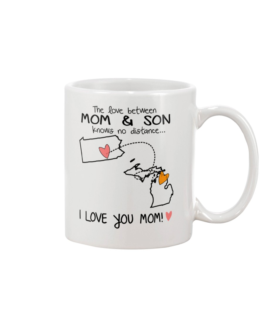 38 22 PA MI Pennsylvania Michigan Mom and Son D1 Mug