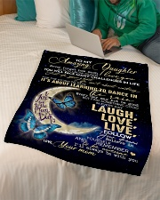 """To My Amazing Daughter Small Fleece Blanket - 30"""" x 40"""" aos-coral-fleece-blanket-30x40-lifestyle-front-07"""