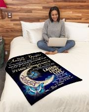 """To My Amazing Daughter Small Fleece Blanket - 30"""" x 40"""" aos-coral-fleece-blanket-30x40-lifestyle-front-08"""