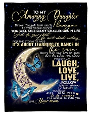 """To My Amazing Daughter Small Fleece Blanket - 30"""" x 40"""" front"""