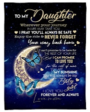 "To My Daughter Small Fleece Blanket - 30"" x 40"" front"