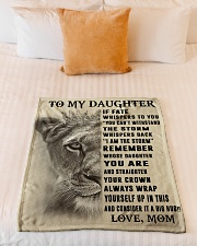 """To My Daughter Small Fleece Blanket - 30"""" x 40"""" aos-coral-fleece-blanket-30x40-lifestyle-front-04"""