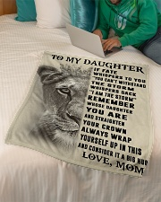"""To My Daughter Small Fleece Blanket - 30"""" x 40"""" aos-coral-fleece-blanket-30x40-lifestyle-front-07"""