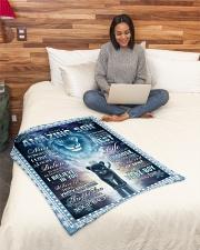 "AMAZING SON Small Fleece Blanket - 30"" x 40"" aos-coral-fleece-blanket-30x40-lifestyle-front-08"