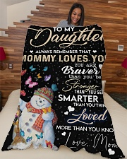 """TO MY DAUGHTER Large Fleece Blanket - 60"""" x 80"""" aos-coral-fleece-blanket-60x80-lifestyle-front-04"""