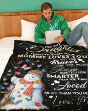 """TO MY DAUGHTER Large Fleece Blanket - 60"""" x 80"""" aos-coral-fleece-blanket-60x80-lifestyle-front-06"""