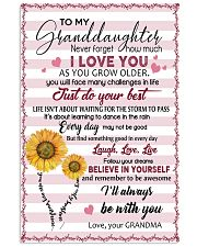 TO MY GRANDDAUGHTER 16x24 Poster thumbnail