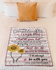 """TO MY GRANDDAUGHTER Small Fleece Blanket - 30"""" x 40"""" aos-coral-fleece-blanket-30x40-lifestyle-front-04"""