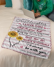 """TO MY GRANDDAUGHTER Small Fleece Blanket - 30"""" x 40"""" aos-coral-fleece-blanket-30x40-lifestyle-front-07"""