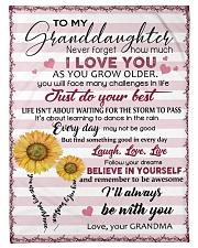 TO MY GRANDDAUGHTER Fleece Blanket tile