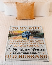 "To My Wife Small Fleece Blanket - 30"" x 40"" aos-coral-fleece-blanket-30x40-lifestyle-front-04"