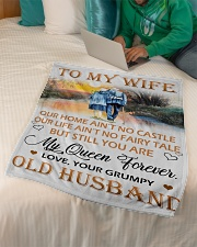 "To My Wife Small Fleece Blanket - 30"" x 40"" aos-coral-fleece-blanket-30x40-lifestyle-front-07"