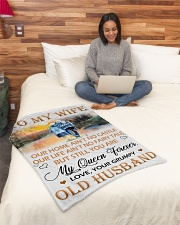 "To My Wife Small Fleece Blanket - 30"" x 40"" aos-coral-fleece-blanket-30x40-lifestyle-front-08"