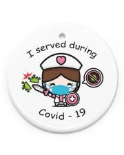 I Served During Covid-19 Circle Ornament (Porcelain) tile
