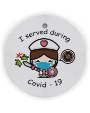 I Served During Covid-19 Circle ornament - single (wood) thumbnail
