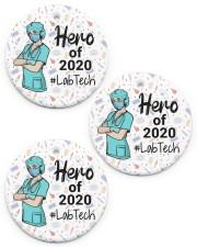 Lab Tech - Laboratory Technician Circle ornament - 3 pieces (porcelain) front