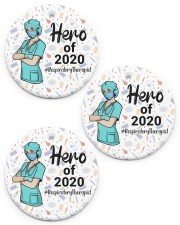 Respiratory Therapist - RT Circle ornament - 3 pieces (porcelain) front