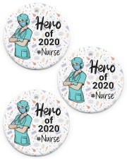 Nurse Circle ornament - 3 pieces (porcelain) front